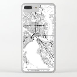 Jacksonville Map White Clear iPhone Case
