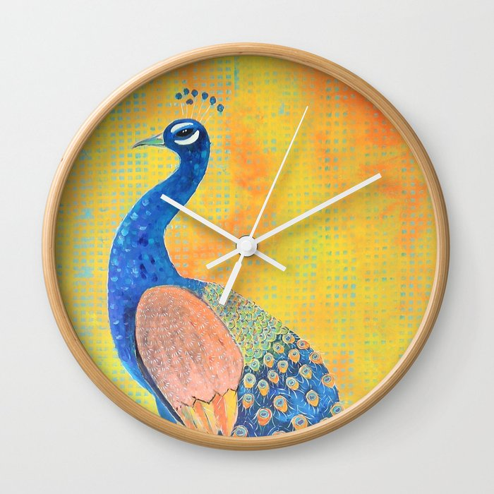 Peacock - The Protector Wall Clock
