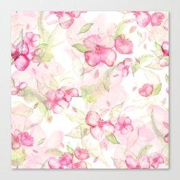 Cherry blossom pattern Canvas Print