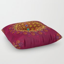 FLOWER OF LIFE, CHAKRAS, SPIRITUALITY, YOGA, ZEN, Floor Pillow