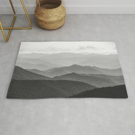 Forest Fade - Black and White Landscape Nature Photography Rug