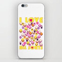 I Love All Sorts iPhone Skin