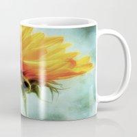 sunflower Mugs featuring Sunflower by ALLY COXON