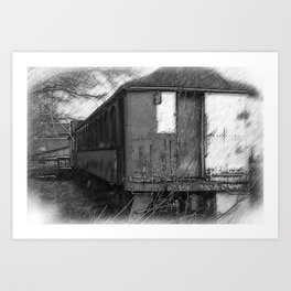 The Old Train Art Print