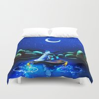 aladdin Duvet Covers featuring Starry Night Aladdin by ThreeBoys