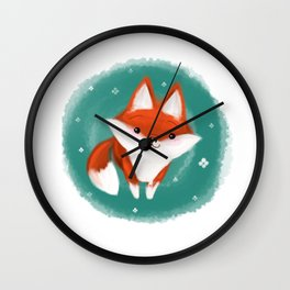 Fox in the wood Wall Clock