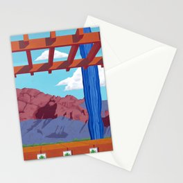 Blue Saguaro Stationery Cards