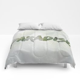 Paradise Palm Trees Comforters