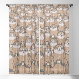 sloth-tastic! Sheer Curtain