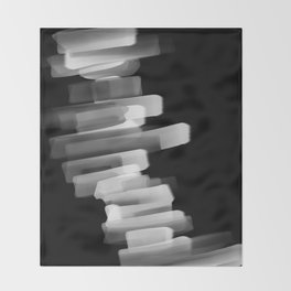 Stairs of Light - Black and White Throw Blanket