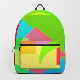 Abstract Geometry Face Backpack