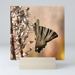 Scarce Swallowtail Feeding Mini Art Print