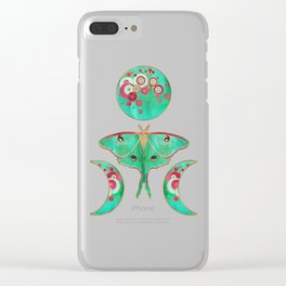 Luna Moth and Triple Moon Clear iPhone Case