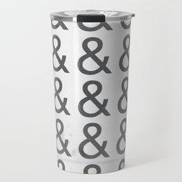Helvetica Ampersand - Happy National & Day! Travel Mug