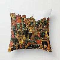 edinburgh Throw Pillows featuring Edinburgh by dacarrie