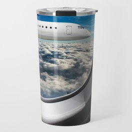 flying from the airplane Travel Mug