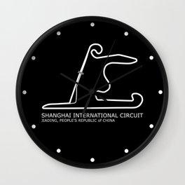 Shanghai International Circuit Wall Clock