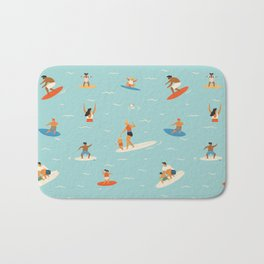 Surfing kids Bath Mat