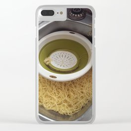 Spaghetti in The Sink Clear iPhone Case
