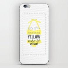 Yellow Polka Dot Bikini iPhone Skin