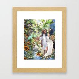 Flowergirls Framed Art Print
