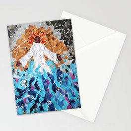 seated at the right Stationery Cards