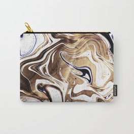 Liquid Bronze and Marble Carry-All Pouch