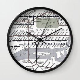 Vintage Subway Wall Clock