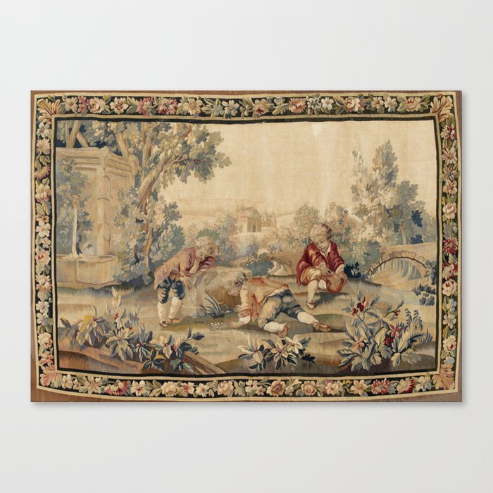 Aubusson  Antique French Tapestry Print Leinwanddruck