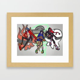 gurren lagann - graffiti Framed Art Print
