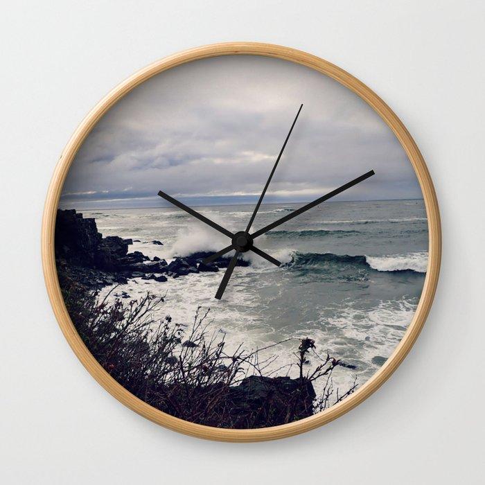 Rough Seas: Ocean Wave Wall Clock