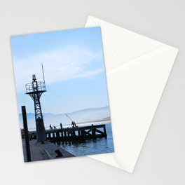 Port and fishermen Stationery Cards