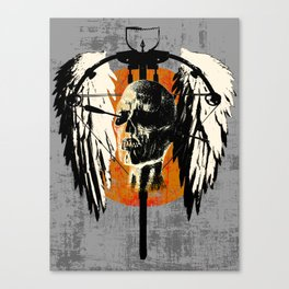 Daryl's wings 3 Canvas Print