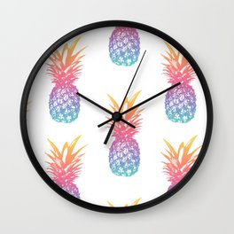 Colorful Pineapple Pattern Wall Clock
