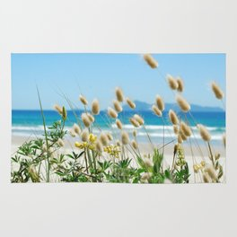 Beach bunny tail  sea grass Rug
