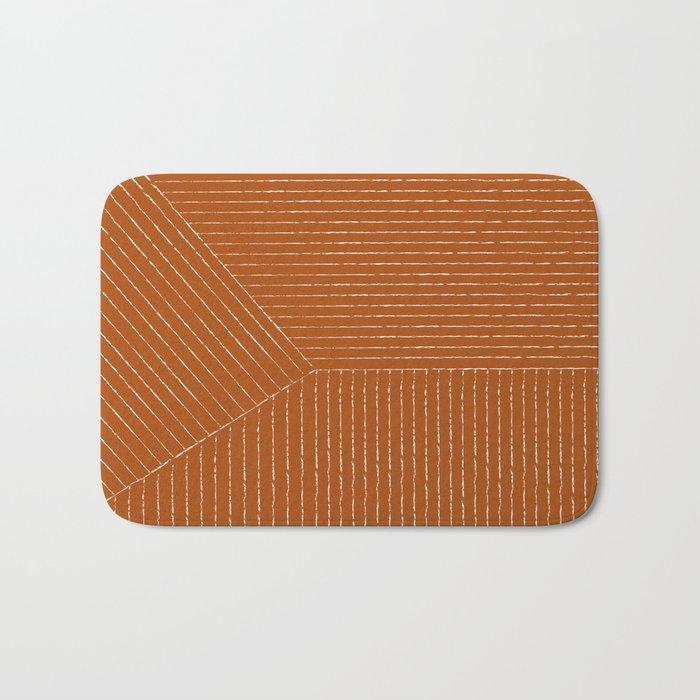 Lines (Rust) Badematte