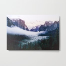 Misty Tunnel View - Yosemite National Park, CA Metal Print