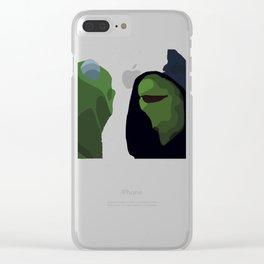 Evil Kermit Meme Clear iPhone Case