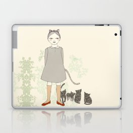 Cat Girl Laptop & iPad Skin