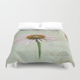 coneflower & bee postale Duvet Cover