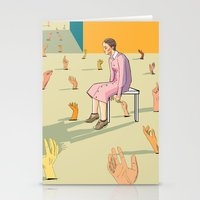 hands Stationery Cards featuring Hands by Nahal