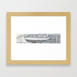 Le Bateau Ivre II Framed Art Print