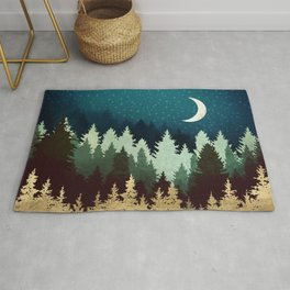 Star Forest Reflection Rug