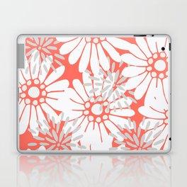Summer Flowers Living Coral Laptop & iPad Skin