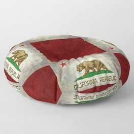 California flag - Retro Style Floor Pillow
