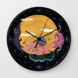 Moon Tigers Wall Clock