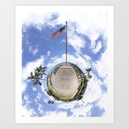 WWII Submarine Memorial - Planetoid Art Print