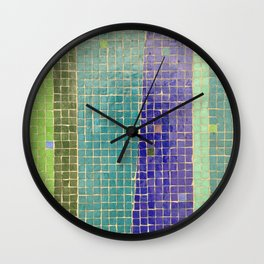 Downtown Fresno / Fulton Mall / Mosaic Bench 05 Wall Clock