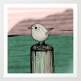 Lone Wren Art Print