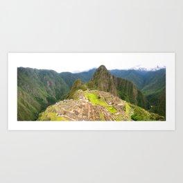 machu picchu panorama Art Print